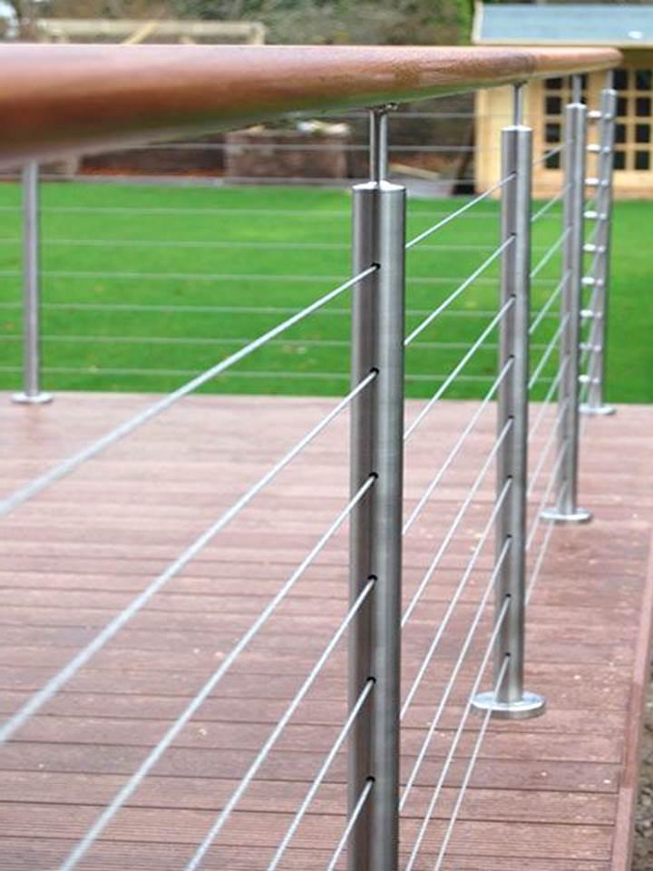 Margu projekti terasēm ar trošu sistēmu