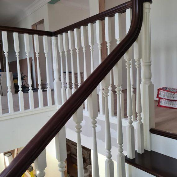 Vecā dizaina kāpnes ar virpotiem reliņiem. Projkets Zviedrijā 8